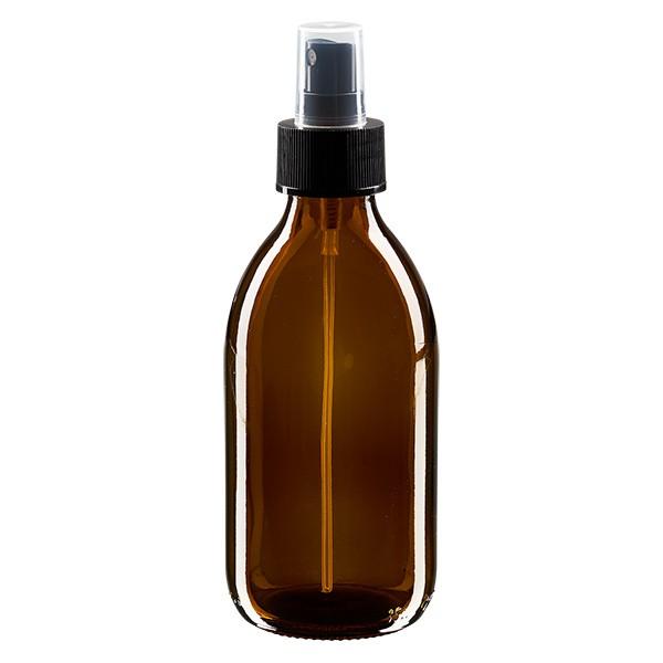 250ml Braunglasflasche mit Pumpzerstaeuber